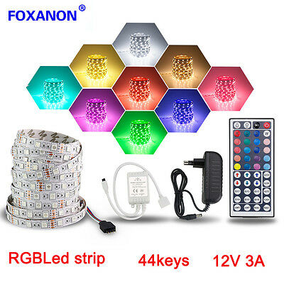 5M Light Strip 5050 RGB 300 Led SMD Flexible Lamp kit