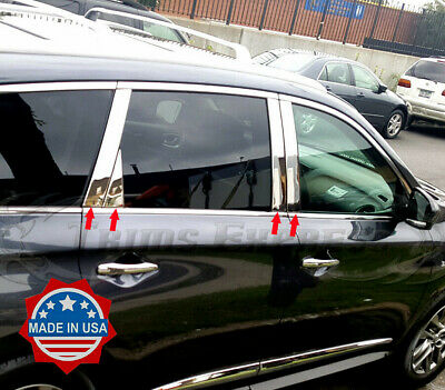 Fit:2013-2019 Nissan Pathfinder 8Pc Chrome Pillar Post Stainless Steel Trim