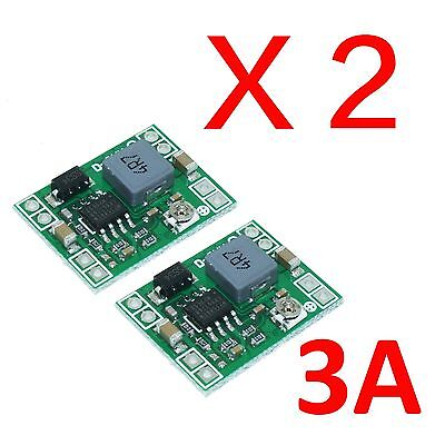 2X Mini 3A DC-DC Adjustable Converter Step down Power Supply replace LM2596S