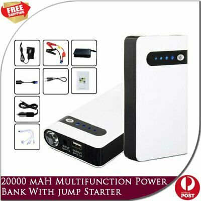 New 20000mAh Mini Portable 12V Car Jump Starter Phone Power Bank Battery Charger