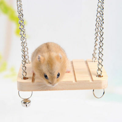 Hamster Toys Seesaw Rat Swing Mouse Harness Parrot Wooden Hamster Swing