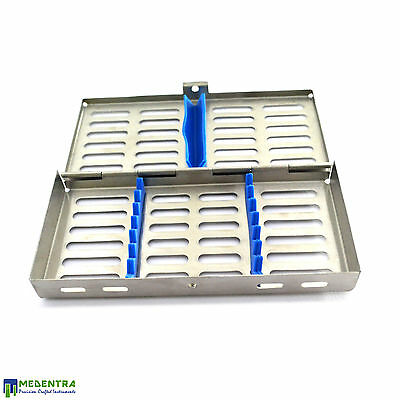 Dental Stainless Steel Autoclave Cassette-Tray For 7 Instruments-Implant Tools