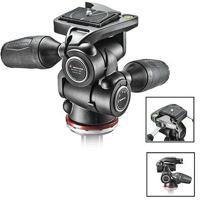 New Manfrotto MH804-3W 3-Way Pan Tilt Head with RC2 Adaptor, retractable Level