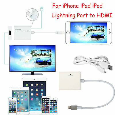 New Lightning To HDMI TV Digital AV Adapter Airplay Cable For iPhone 6/6s/5/5s/7