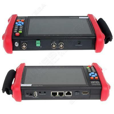 "IPC9800ADH 7"" Touch TVI CVI AHD CVBS IP HD 1080P Camera Monitor CCTV UTP Tester"