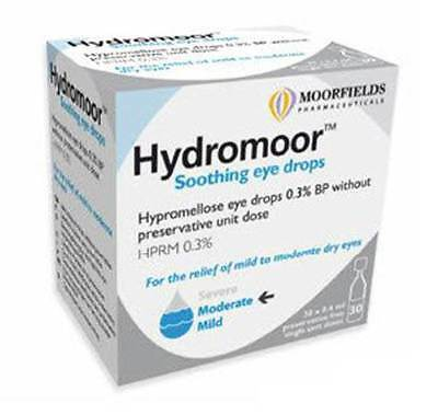 Hydromoor Soothing Eye Drops 0.4ml Hypromellose 0.3% Single Dose Units Dry Eyes