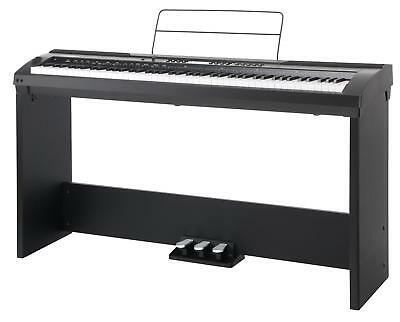 Digital Electric Piano Keyboard Stagepiano Set 88 Keys Stand Pedals Eq Midi Usb