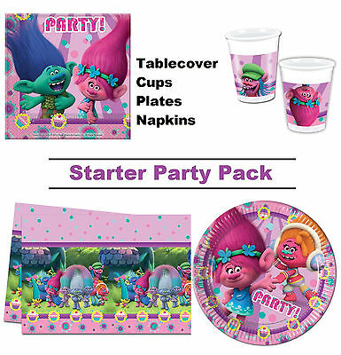 Dreamworks Trolls | Poppy 8-48 Guest Starter Party Pack - Cup | Plate | Napkin