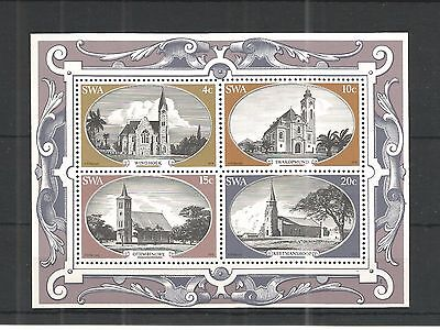 S.w.a 1978 Historic Churches Minisheet Sg,ms323 Un/mm Nh Lot 1122A