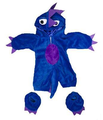 """BLUE PURPLE MONSTER HALLOWEEN OUTFIT FOR 16""""/40cm TEDDIES & BUILD YOUR OWN BEARS"""