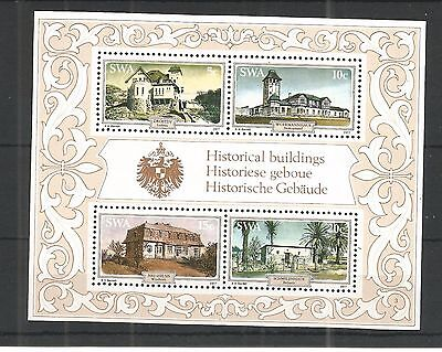 S.w.a 1977 Historic Houses Minisheet Sg,ms281 Un/mm Nh Lot 1123A
