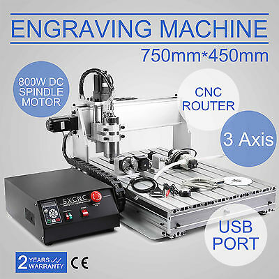 3 Axis 6040 Cnc Usb Router Engraver Machine Woodworking Printing Carving Tool