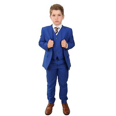 Boys Formal Royal Blue Suit Italian Wedding Prom Page Boy Saks Blue Suits