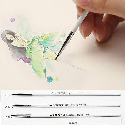 Weasel's Hair Brush Pen Nail Watercolor Line Art Supplies Stationery Tool
