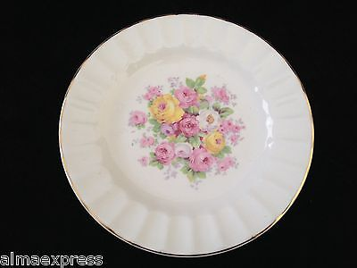 "Edwin Knowles China KNO246 246 46 Floral Gold Fluted - 6"" BREAD / DESSERT PLATE"