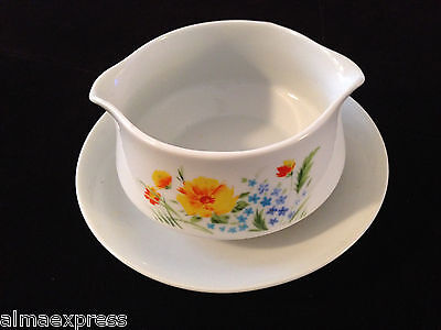 JUST SPRING Imperial Japan China W. Dalton L5011 - GRAVY BOAT W/ UNDERPLATE