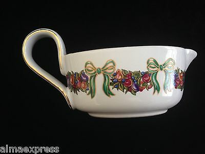 Claire Burke Gravy Boat / Syrup Pitcher / Sauce Serving Dish Christmas Garland