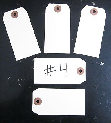 "25 Avery Dennison Manilla #4 Blank Shipping Tags 4 1/4"" By 2 1/8"" Scrapbook"