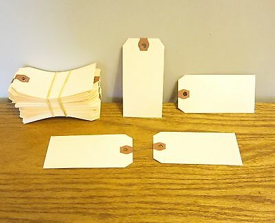 """75 Avery Dennison Manilla #4 Blank Shipping Tags 4 1/4"""" By 2 1/8"""" Scrapbook"""