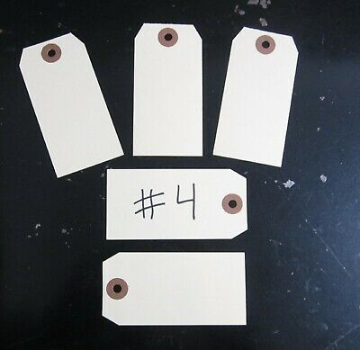 """150  Avery Dennison Manilla #4 Blank Shipping Tags 4 1/4"""" By 2 1/8"""" Scrapbook"""