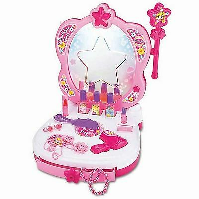 Kids Children Glamour Magic Dressing Table Mirror Makeup Princess Vanity Girl UK