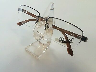 Persol Meflecto Vintage Rimless Eyeglasses Frame from 1990s Very Rare NOS