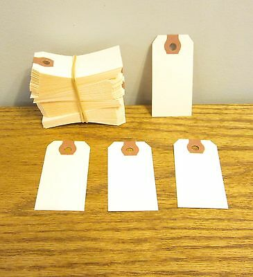 """100 Avery Dennison Manilla  #1 Blank Shipping Tags 2 3/4"""" By 1 3/8"""" Scrapbook"""