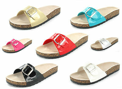 New Ladies Womens Classic Summer Sandal Cork Sole Uk Sizes