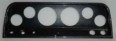 """64-66 Chevy Truck Carbon Dash Carrier Panel for 3-3/8"""", 2-1/16"""" Gauges"""