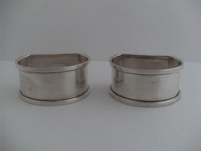 LOVELY PAIR OF SOLID SILVER NAPKIN RING's Birmingham 1926