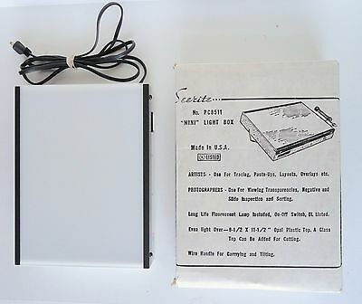 Seerite Portable Light Box Model PC 8511 DY Tattoo Drawing Tracing Artist Dental