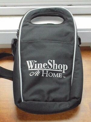 Wine Shop At Home Wine Bottle Cooler Bag Insulated NEW Black Fabric