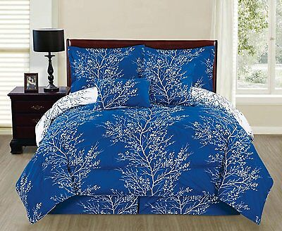 Natural Royal Branches 6 piece Reversible Printed Soft Comforter Set