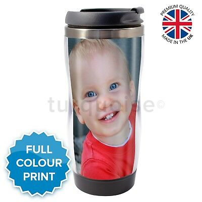 Personalised Custom Photo Gift Thermal Mugs Coffee Tea Travel Flask Cup