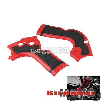 Acerbis X-Grip X Bike Frame Guard Protectors For Honda CRF 250 450R Red New