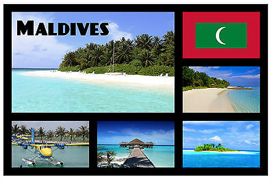Maldives - Souvenir Novelty Fridge Magnet - Sights - Gift / Xmas - Brand New