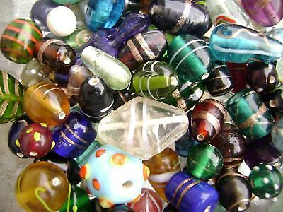 3354GL Glass Bead Mix Lampwork Vintage Style Medium - Large 6-20mm 100 grams