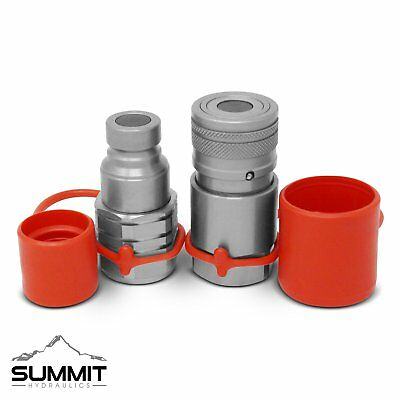 5/8 SAE -10 Flat Face Hydraulic Quick Connect Couplers Bobcat Skid Steer