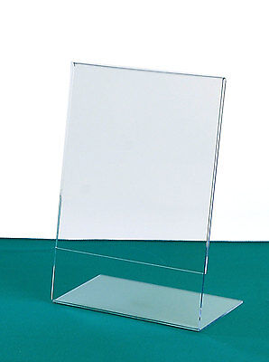Acrylic Sign Holders - 39 Sizes | Angled Picture Holder | Tabletop Menu Holders