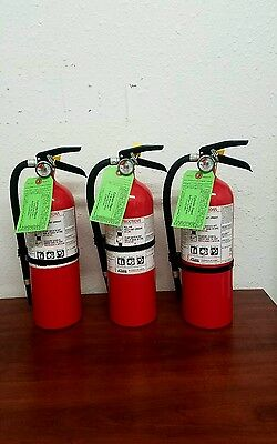 5lb Fire Extinguisher ABC Dry Chemical - Lot of 3 - Rechargeable - Kidde New Tag
