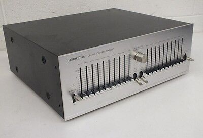 RARE Vintage 1980s Project/One Mark 150 Metal Faced 10-Band Graphic Equalizer