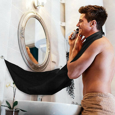 Man Bathroom Beard Care Trimmer Hair Shave Apron Gown Robe Waterproof Bib Cloth