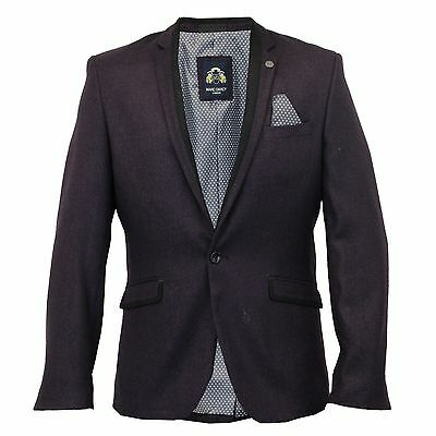 Herren Marc Darcy Vintage Tweed-Blazer Smart Jacke Carter - Mulberry
