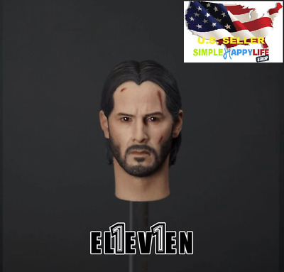 "Authentic Eleven 1/6 John Wick 3.0 head sculpt for Hot toys 12"" figure ❶USA❶"