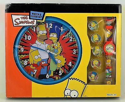 The Simpsons Watch And Clock Set Play Works International