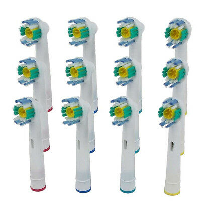 4/12pcs Electric ToothBrush Heads Spare parts For Braun Oral-B 3D WHITE ACTION