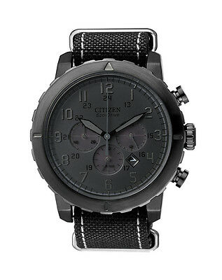 NEW Citizen Mens Stainless Steel Eco-Drive Chronograph Watch - CA4098-06E