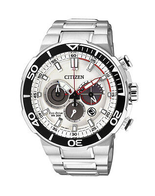 NEW Citizen Mens Stainless Steel Eco-Drive Chronograph Watch - CA4250-54A