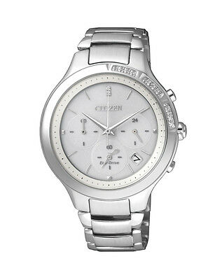 NEW Citizen Ladies Stainless Steel Eco-Drive Diamond Watch - FB4000-53A
