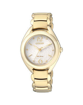 NEW Citizen Ladies Gold Stainless Steel Eco-Drive Watch - FE2072-54A